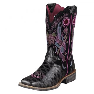 Ariat Fatbaby Boots Womens 10 B Red Gator Amp Sand Cowboy