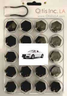 99 9712 B TT BLACK lug bolt covers AUDI TT wheels FREE SHIPPING in the