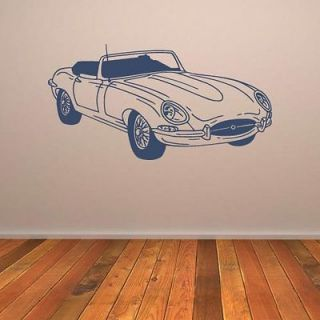 Jaguar E Type Car Vinyl Wall Art Sticker Decal Transfer Boys Bedroom