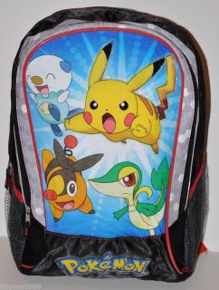 POKEMON PIKACHU BACKPACK BAG 16 TALL AUTHENTIC CUTE tote messenger