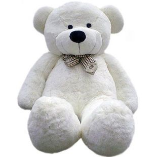 47 White color 1.2M 120CM Giant Huge Teddy Bear Cuddly Stuffed Animal