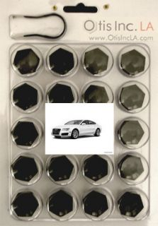 99 9712 B A7 BLACK lug bolt covers AUDI A7 wheels FREE SHIPPING in the