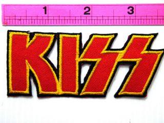 KISS Hard Rock Band Logo Music Jacket T shirt Patch Iron on