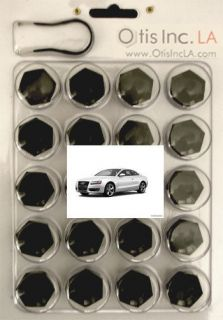 99 9712 B A5 BLACK lug bolt covers AUDI A5 wheels FREE SHIPPING in the