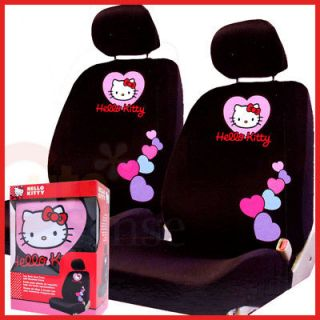 Hello Kitty Car Seat Cover Auto Accessory 2 Front Seat Low Back