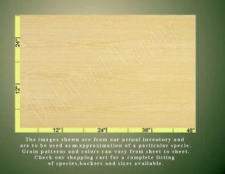 White Ash Wood Veneer Sheet, 4x8, Flat Cut,10mil paper back