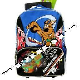 Mystery Machine Scooby Doo Rolling Backpack  Racing, New