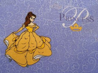 Disney Princess Fabric BTY Sparkle Snow White Cinderella Aurora Belle