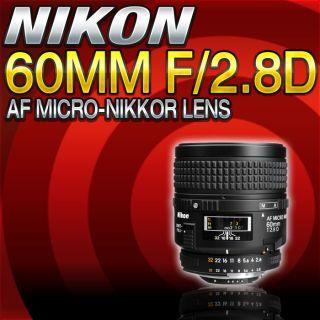 Normal Macro 60mm f/2.8D AF Micro Nikkor Autofocus Lens