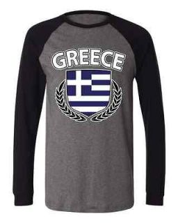Of Arm Long Sleeve Baseball T shirt Olympic Games Greek Athens Sport