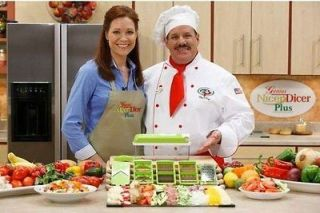 New Nicer Dicer Plus 10 piece Multi Vegetable Chopper/Fruit Slicer