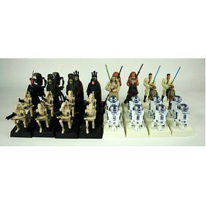 Star Wars Episode 1 Chess Set Pieces (R2D2,Nute, King, Pawn, Bishop