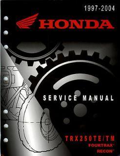 1997 2004 Honda ATV TRX250TE TM Fourtrax Recon Service Manual
