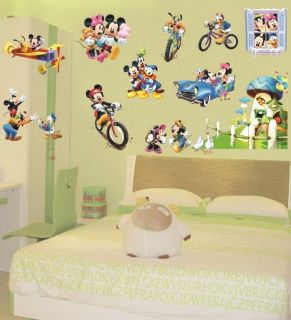 Large Disney Mickey Mouse Wall Art Decor Nursery Kids Decal Stickers