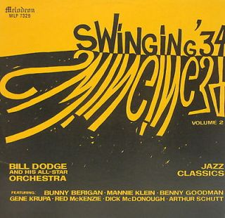 MELODEON  SWINGING 34 VOL. 2 BILL DODGE & ORCHESTRA  NM