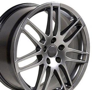 17 x 7.5 Hyper Silver New RS4 Wheel Fit Audi A4 A6 A8