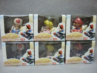MARIO KART Wii Figure Pull Back Car Play Set   BABY SERIES 6PCS