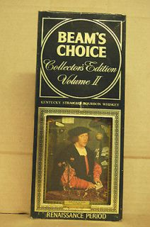 Beams Choice Renaissance Volume II whiskey decanter w/orig. box Jim