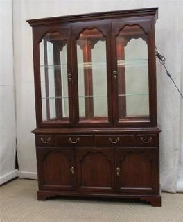 DREXEL HERITAGE CARLETON CHERRY CHIPPENDALE CHINA CABINET BREAKFRONT