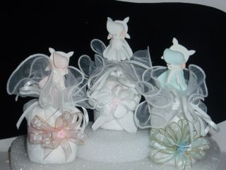 BAPTISM BABY SHOWER DIAPER CUPCAKES CENTERPIECE TOPPER CAKE 1 GIFT