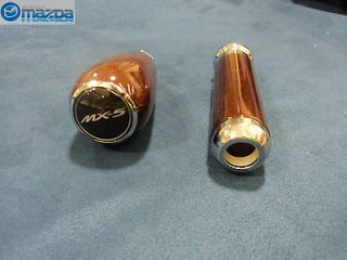 MAZDA MIATA MX 5 08 12 WOOD GRAIN AUTOMATIC GEAR SHIFT KNOB & PARKING