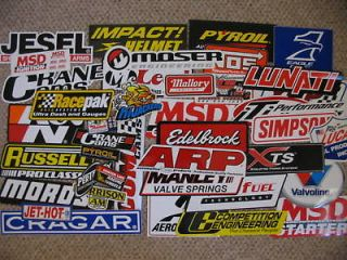 200 new race car decals stickers    nascar, nhra, chevy, ford, mopar