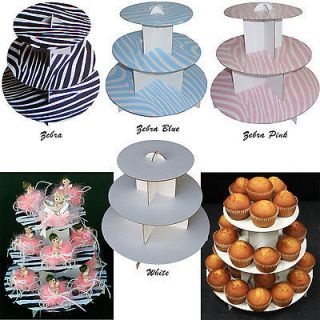 stand 3 tier cupcaketree zebra party favor wedding baby shower 1pc