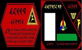 Klingon ID Card Star Trek costume accessory badge