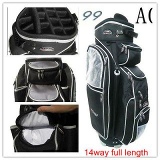 Newly listed A08 14way full length divider golf cart bag deluxe black