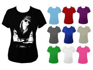 Womens Axl Rose Guns n Roses Rock Icon Top T shirt NEW UK 6 18