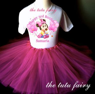 Baby Minnie Mouse 2nd 3rd 4th 5th Birthday Girl pink tutu outfit set