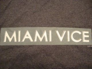 Miami Vice TV SHOW Movie Graphic Print Gray 50/50 T Shirt XL