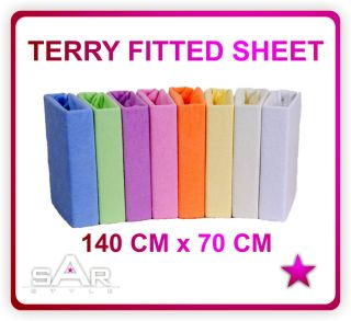 FITTED SHEET 140 X 70 CM BABY COT BEDDING NURSERY MATTRESS SHEET