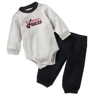 NWT Carters Baby Boy Clothes 2 Piece Set Gray Black Guitar 3 6 9 12 18