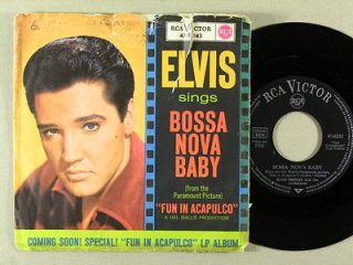 Elvis Presley   Bossa Nova Baby/Witchcraft (RCA 47 8243 single PS
