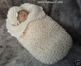 BABY COCOON PAPOOSE CROCHET PATTERN REBORN PATTERN #127