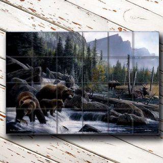 17 X 25.5 Ceramic Tile Backsplash  Kitchen & Bathroom  Bears