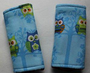 Handmade Infant Car seat belt covers   Owl