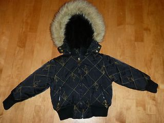 EUC GIRLS BABY PHAT BLACK WINTER COAT JACKET SIZE 4