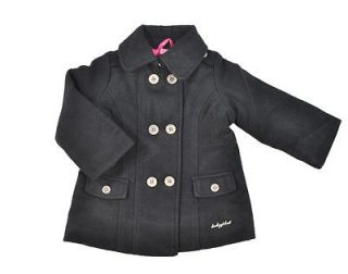 Baby Phat Infant Girls Black Wool Outerwear Coat Size 24M $95