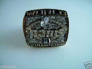 Newly listed 1999 ST LOUIS RAMS SUPER BOWL CHAMPIONSHIP FAN RING