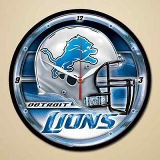 Detroit Lions Helmet & Name Round Wall Clock