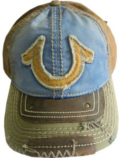 TRUE RELIGION True Logo Embroidered Baseball Cap HAT OSFA Color:Blue