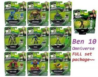 Ban Dai 2012 Ben Ten 10 Omniverse Alien 4 inch Figure Full Set of 10