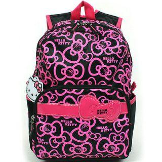 Hello Kitty Brand New School Bag Backpack for Girls, Kids, Pink, Black