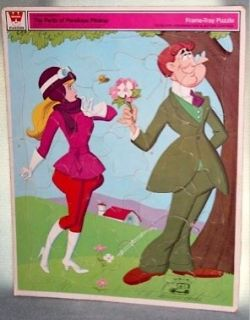 The Perils of Penelope Pitstop Vintage Frame Tray Puzzle Hanna Barbera