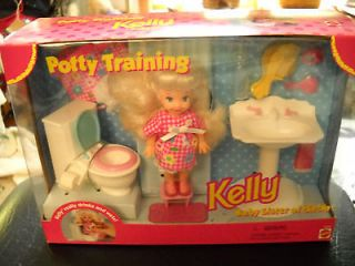 Barbie 1996 Potty Training Kelly NICE L@@K