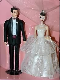 Barbie and Ken Wedding Cake Topper Keepsake Ornaments   NEW