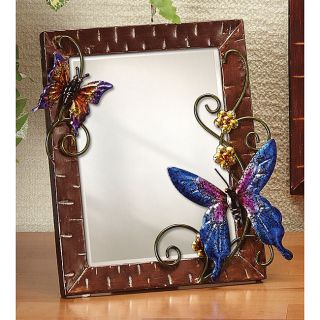 Small Metal Butterflies Table Mirror   Table mirror