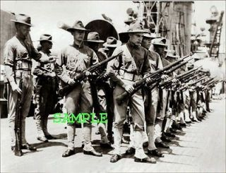 1915 US MARINES Rifle Drill PHOTO